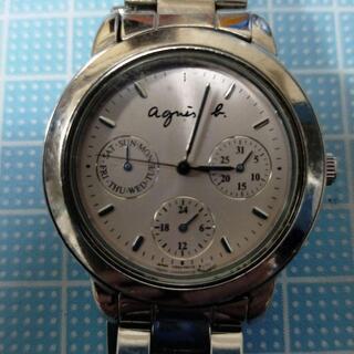 アニエスベー(agnes b.)のアニエスベー 中古 稼働品 agnès b. 文字盤ピンク アナログ 電池式(腕時計)
