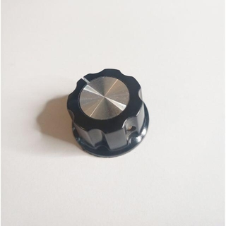 BOSS風 デカめノブ 黒 BLACK 27mm(エフェクター)