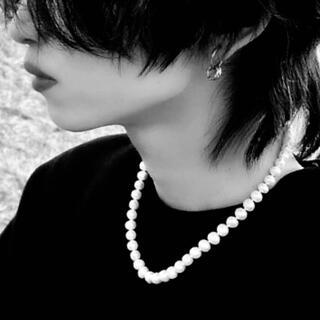 【最終お値下げ】【美品】8mm ホワイトパールネックレス チェーンアジャスター付