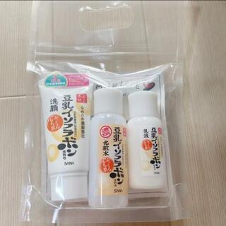豆乳イソフラボン 化粧水 乳液 洗顔 ミニセット