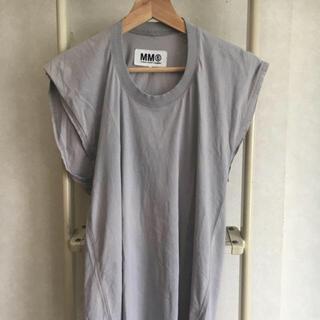 エムエムシックス(MM6)のMM6 グレーカットソー(カットソー(半袖/袖なし))