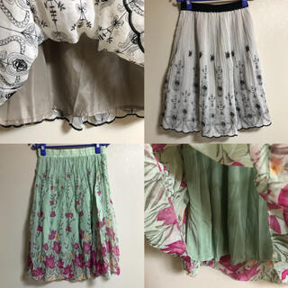アクシーズファム(axes femme)のスカート 2着セット(ひざ丈スカート)