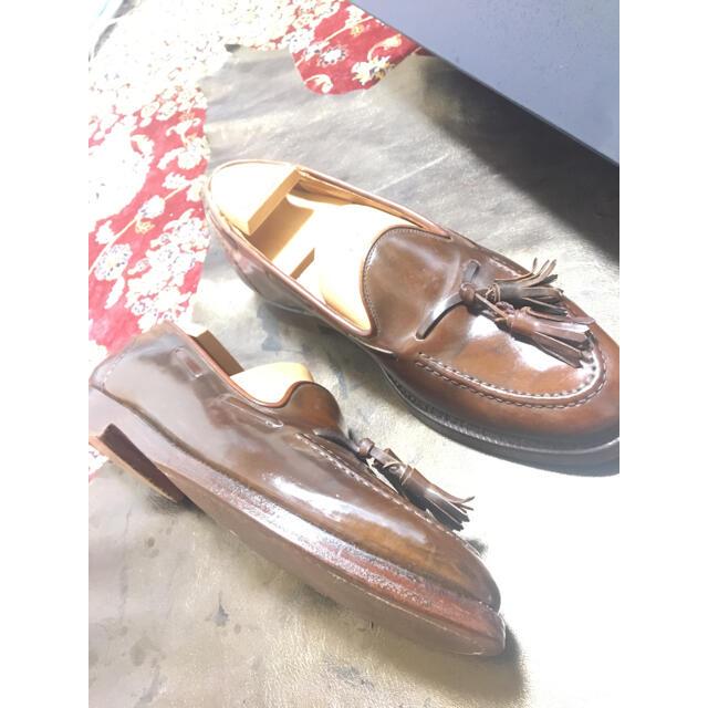 Ralph Lauren(ラルフローレン)のコードバン(ホーウィン社)  クロケット&ジョーンズ 製 タッセルローファー メンズの靴/シューズ(ドレス/ビジネス)の商品写真