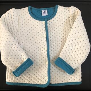 プチバトー(PETIT BATEAU)のプチバトー キルティングジャケット カーディガン(ジャケット/上着)