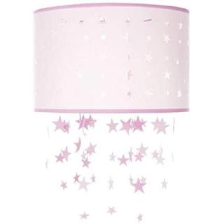 ローラアシュレイ(LAURA ASHLEY)のスターズ モビール シーリングシェード ピンク ローラアシュレイ 直径30cm(その他)