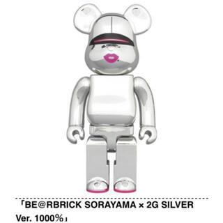 MEDICOM TOY - BE@RBRICK SORAYAMA × 2G SILVER Ver. 1000