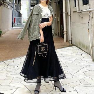 TODAYFUL - 新品 baybee online ドット マキシスカート ロングスカート 黒