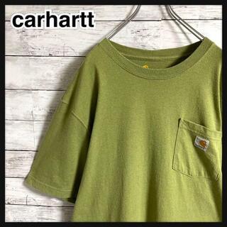 carhartt - 【超人気カラー】カーハート☆ロゴタグ ポケット 半袖Tシャツ 即完売モデル