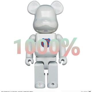 MEDICOM TOY - BE@RBRICK 1st MODEL WHITE CHROME 1000%