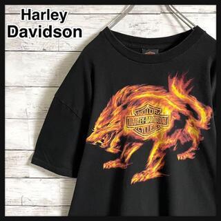 Hurley - 【即完売品】ハーレダビッドソン☆ビッグロゴ ファイヤー ウルフ 半袖Tシャツ