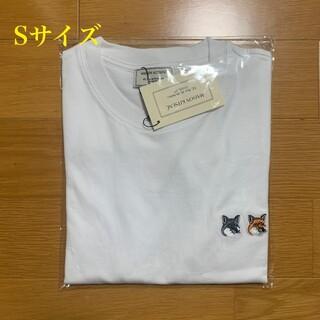 MAISON KITSUNE' - メゾンキツネ ダブルフォックスヘッドパッチ Tシャツ 白 Sサイズ