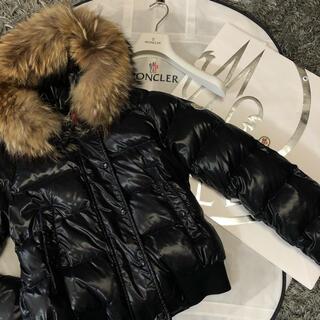 モンクレール(MONCLER)のモンクレール 正規品 ALPES サイズ1 ブラック ファー付き(ダウンジャケット)