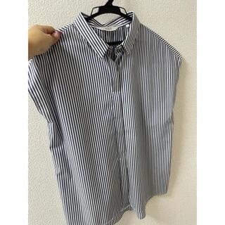 アオヤマ(青山)のストライプシャツ(シャツ/ブラウス(半袖/袖なし))