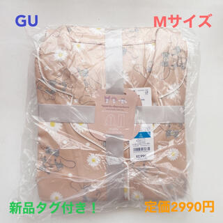 GU - 【完売品】Mサイズ GU ジーユー サンリオ 長袖 サテンパジャマ セット