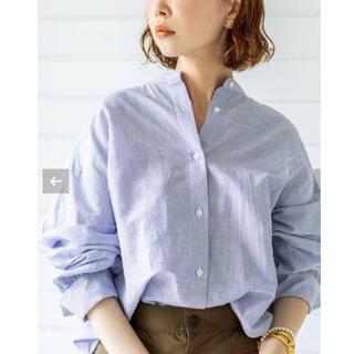 IENA - 【新品タグ付】IENA 麻バックギャザーシャツ サックスブルー サイズ38