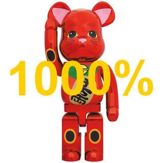 メディコムトイ(MEDICOM TOY)のBE@RBRICK 招き猫 梅金メッキ 1000%(その他)