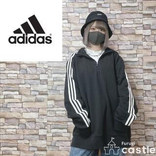 adidas - adidas アディダス ハーフジップ スウェット オーバーサイズ ブラック L