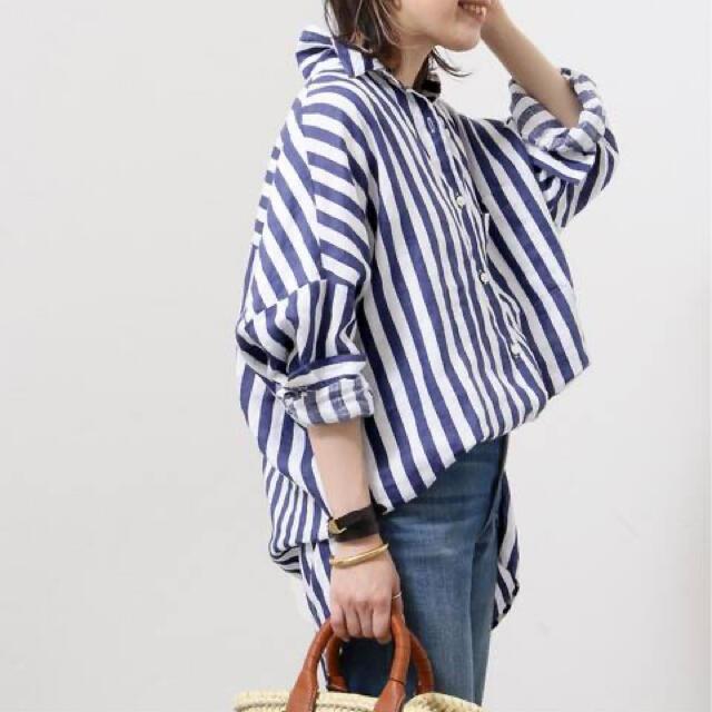 DEUXIEME CLASSE(ドゥーズィエムクラス)の EVERYDAY I LIKEワイドシャツLinen 新品タグ付 レディースのトップス(シャツ/ブラウス(長袖/七分))の商品写真