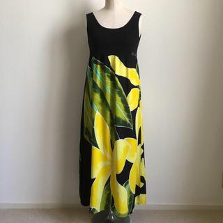 【Pukana】ハワイアン ワンピース タンクトップドレス プルメリア Y