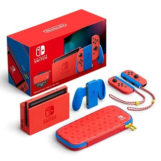 Nintendo Switch - 任天堂スイッチ本体 マリオレッド☓ブルーセット