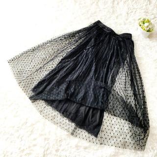 DOLCE&GABBANA - 美品 DOLCE&GABBANA ドルガバ チュール  ドット スカート