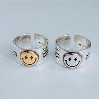 【セット割】スマイリーリング ペアリング 指輪 ニコちゃん silver925