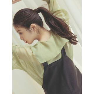 GRL - 今田美桜 ビックカラー シアーシャツ