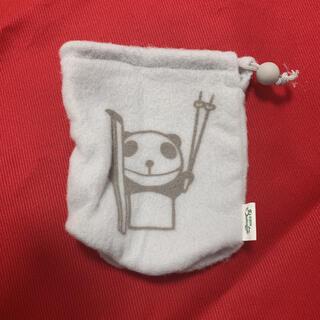 キリン(キリン)の生茶パンダ ペットボトルホルダー ペットボトルカバー ノベルティ 非売品 グレー(ノベルティグッズ)