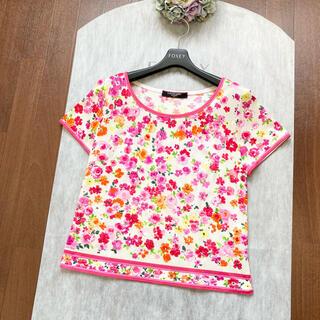 LEONARD - ⭐︎美品⭐︎ LEONARD レオナール 美しい花柄 トップス Tシャツ