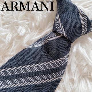 ARMANI COLLEZIONI - 極美品 アルマーニ コレツォーニ ネクタイ ハイブランド ストライプ柄 ビジネス