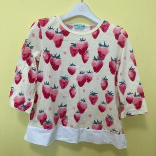 hakka kids - Hakka kids いちご柄 七分袖Tシャツ 130