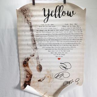 COLDPLAY YELLOW ポスター(印刷物)