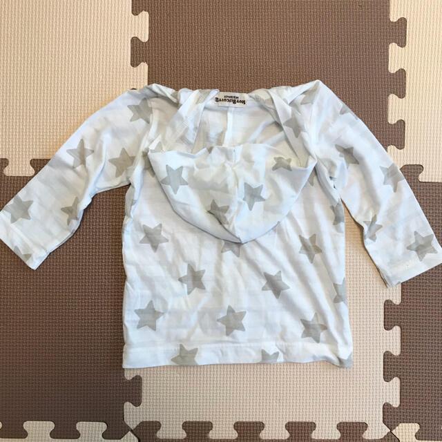 mikihouse(ミキハウス)のミキハウス ホットビスケッツ パーカー キッズ/ベビー/マタニティのキッズ服男の子用(90cm~)(Tシャツ/カットソー)の商品写真