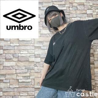 UMBRO - UMBRO アンブロ Tシャツ ロゴ シンプル ビッグサイズ ブラック XL