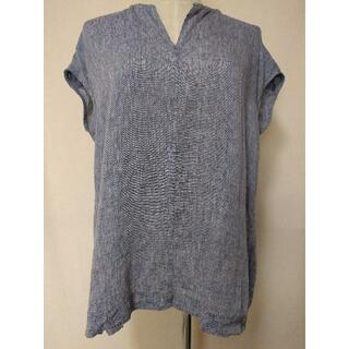 ニジュウサンク(23区)の23区 LIBECO 無地 シャツ トップス 麻100% 38 Mサイズ 新品(Tシャツ(半袖/袖なし))