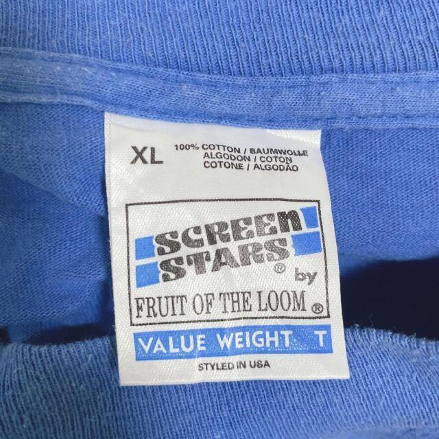 オーバーサイズ ビッグT スポカジュ シンプル Tシャツ ブルー XL メンズのトップス(Tシャツ/カットソー(半袖/袖なし))の商品写真