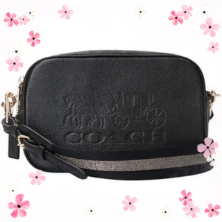 COACH - COACH★コーチ レザー ジェス 馬車ロゴ クロスボディブラック 人気