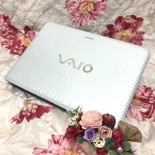 バイオ(VAIO)の大人気ダイヤモンドホワイト🌟無線マウスとカメラ付🌟大容量500G!!(ノートPC)