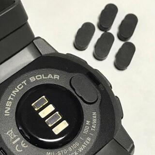 黒3個 即購入可 高品質シリコン 充電ポート カバー GARMIN  ガーミン(ランニング/ジョギング)