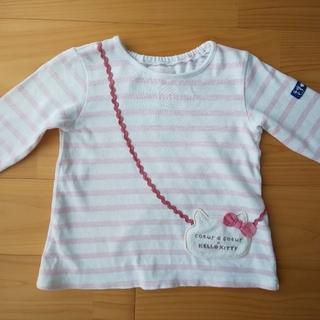 coeur a coeur -  クーラクール キティ コラボ Tシャツ 95 2021 春物 ピンク