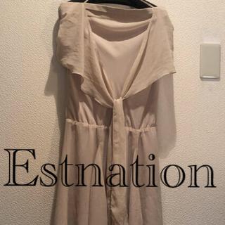ESTNATION - estnation 膝丈ワンピース