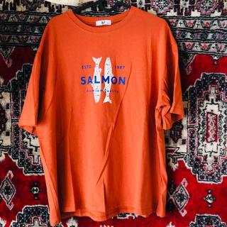 ♢♢ salmon ♢♢ Tシャツ チャンピオン ハフ XLARGE ビームス(Tシャツ/カットソー(半袖/袖なし))