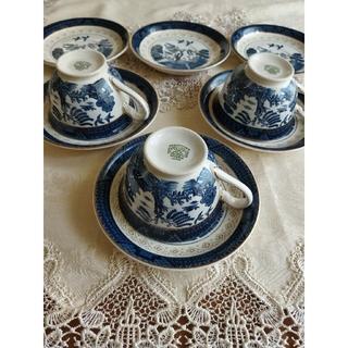 ニッコー(NIKKO)のNIKKO DOUBLE PHOENIXカップ&ソーサー山水 3客+お皿3枚(食器)