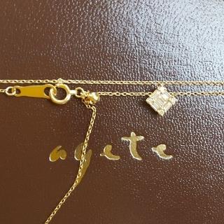 agete - ベルシオラ テーパード スクエア ダイヤモンド K18 ネックレス