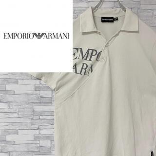 エンポリオアルマーニ(Emporio Armani)の【レア】エンポリオアルマーニ 半袖ポロシャツ  デカロゴ 生成り  L(ポロシャツ)