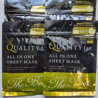 クオリティファースト(QUALITY FIRST)のオールインワンシートマスク ザ・ベストEX(3枚入)×4セット 12枚(パック/フェイスマスク)