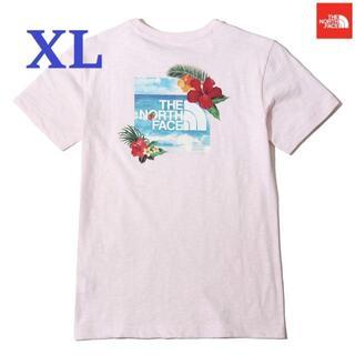 THE NORTH FACE - 海外 ★希少ノースフェイス Tシャツ 半袖 花柄 綿 ピンク/XL K139C
