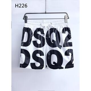 ディースクエアード(DSQUARED2)のDSQUARED2ホワイトショートパンツ水着 H 226(水着)