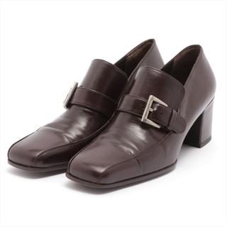 プラダ(PRADA)のプラダ  レザー 35 ブラウン レディース ローファー(ローファー/革靴)