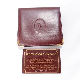 Cartier - Cartier 二つ折り財布 ボルドー